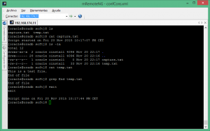 entrada Linux script